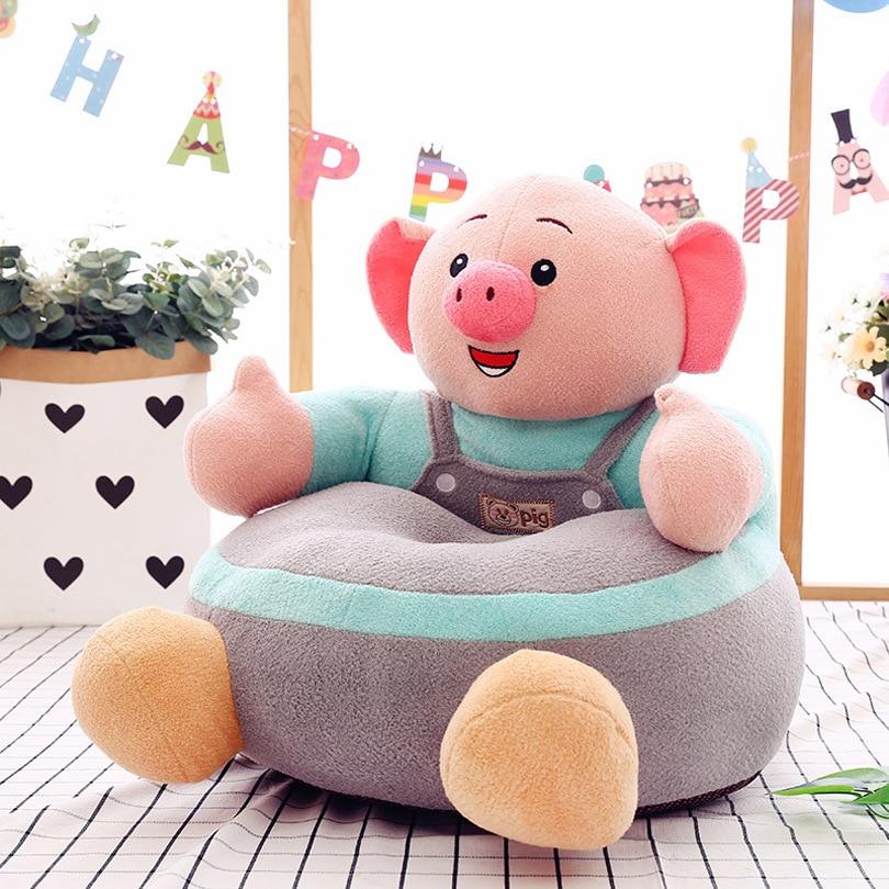 New Cartoon Children's Lazy Sofa Baby Seat Plush Toy Creative Children's Birthday Present Chair For Kids  Kids Sofa
