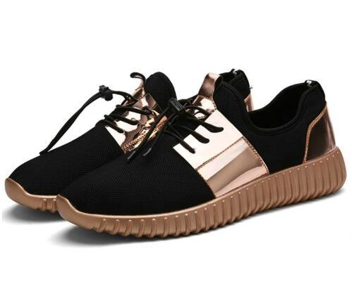 46 Couple Hommes or Plat 2018 Sport 35 Respirant Chaussures Mode New Taille Noir Summer De blanc Automne E9WDI2HY