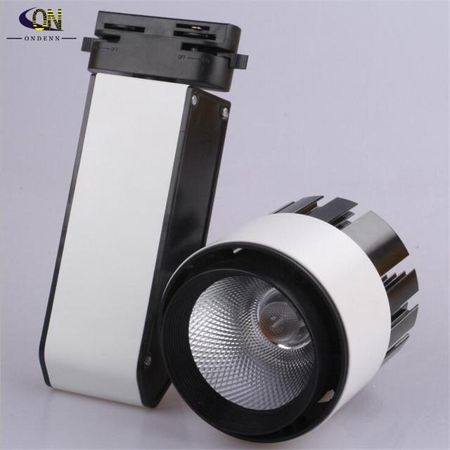LED track light 24W COB high lumens high quality commercial light rail lamp LED Spot Light AC85-265V Free shipping