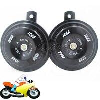 Black 110db Motorcycle Car Horn 12v JCAA Loud Speaker Tweeter Woofer Racing Air Horn For Scooter