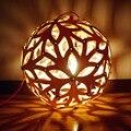 Moderna de madera de roble de madera bola mundial arte creativo minimalista diy accesorios colgantes colgante de luces de la lámpara de iluminación e27 bombilla luminaria