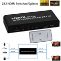 2160 p 4 k * 2 k hdmi v1.4 interruptor 2x2 hdmi splitter switcher 2 em 2 out hdmi switcher de vídeo de áudio adaptador conversor para hdtv pc PS3