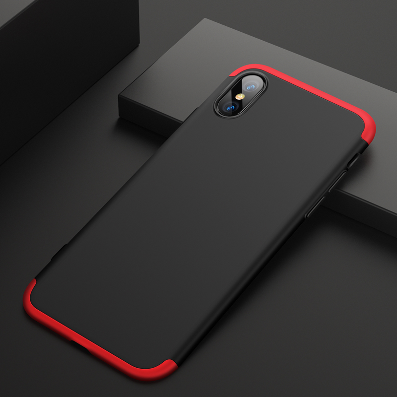 For iPhone XS Max 6.5inch Case 360 Degree Full Luxury 3-IN-1 Shockproof Frosted Shield Hard Back Cover Case For iPhone XSMaxCase (12)