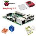 2016 Raspberry Pi 3 Modelo B Com wireless Embutido e conectividade Bluetooth + Alimentação + Oficial + 2 Caso pcs kit Dissipador de calor