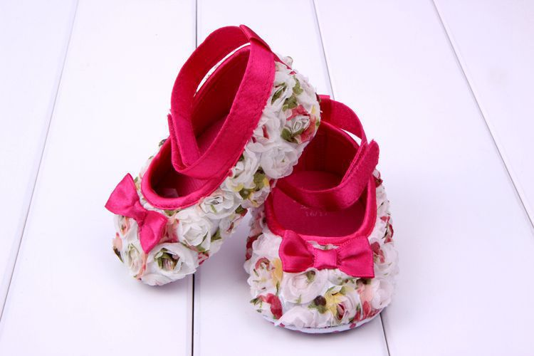 Todder pre-walker shoes Flowers shading bow Newborn Baby Shoes soft sole