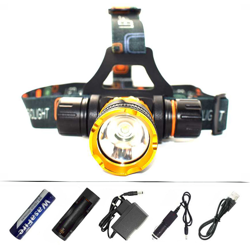 Diving Head Lamp Light XML T6 LED Headlamp Underwater Waterproof Diving Headlight Frontal Flashlight + 18650 Battery + Charger 2 in 1 waterproof headlamp headlight xml t6 outdoor sports head lamp front bikelight& 4 18650 battery pack worked charger