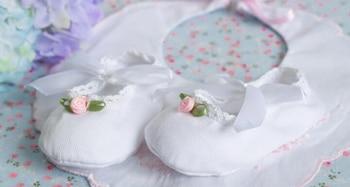baby girls shoes newborn white cotton christening infantil zapato princess lace flowers for wedding celebration SandQ