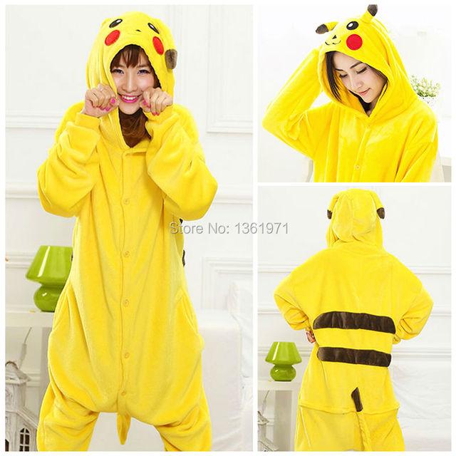 Christmas Party HKSNG Good Quality Women Adult Winter Pikachu Cheap On Sale Pajamas  Onesies Pokemon Cosplay Japanese Kigurumi 24d2472c8331e
