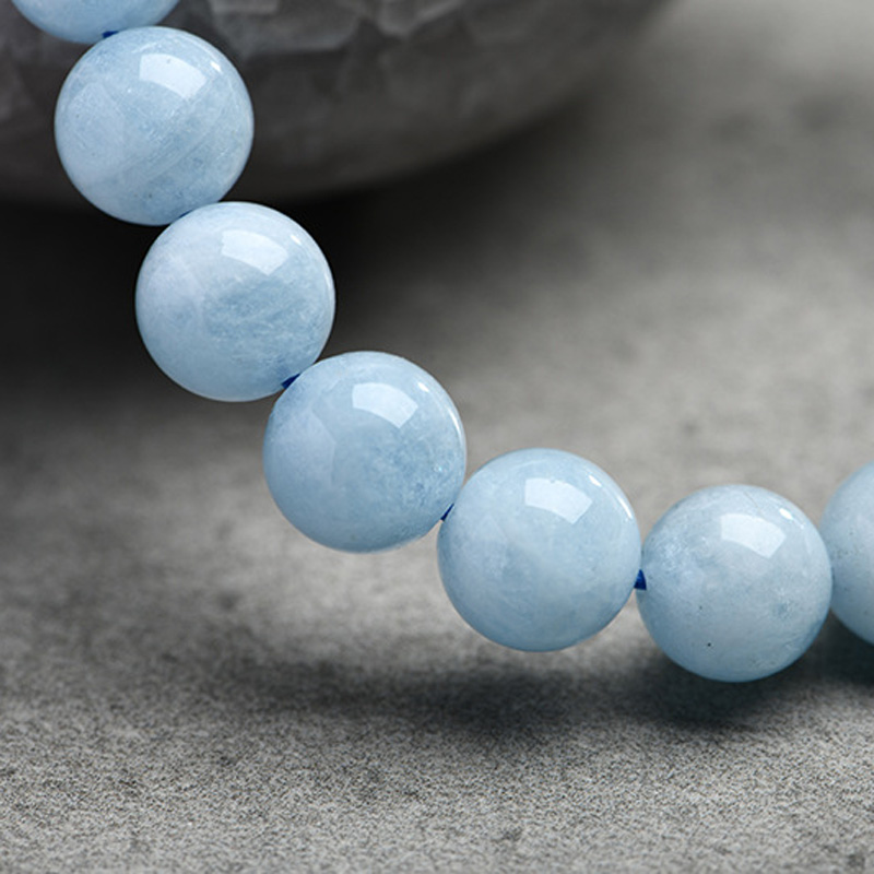 HTB1Uws6piAnBKNjSZFvq6yTKXXaH Natural Aquamarine Bracelet Single Circle Crystal Bracelet Jewelry 6-10mm Beads Romantic Casual Crystal Yoga Bracelet