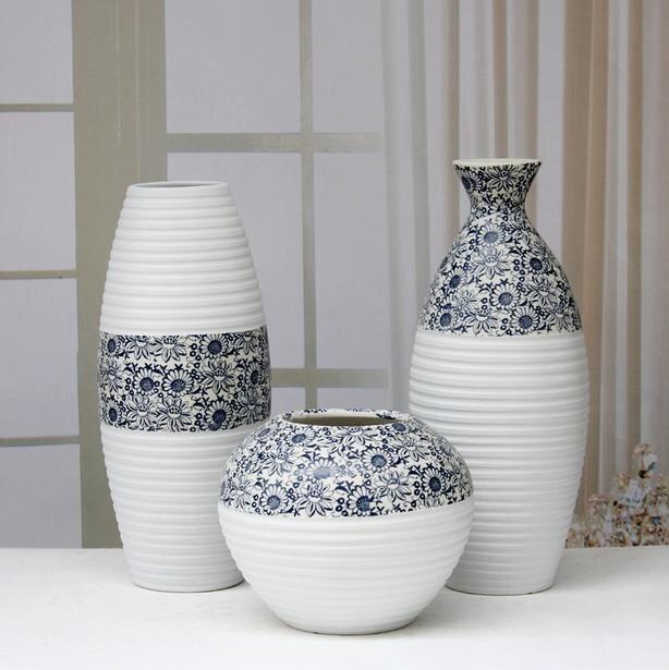 Классическая Керамика ваза для цветов, Набор декоративных фаянс ремесленных Интимные Аксессуары Украшение для украшения комнаты и подарок