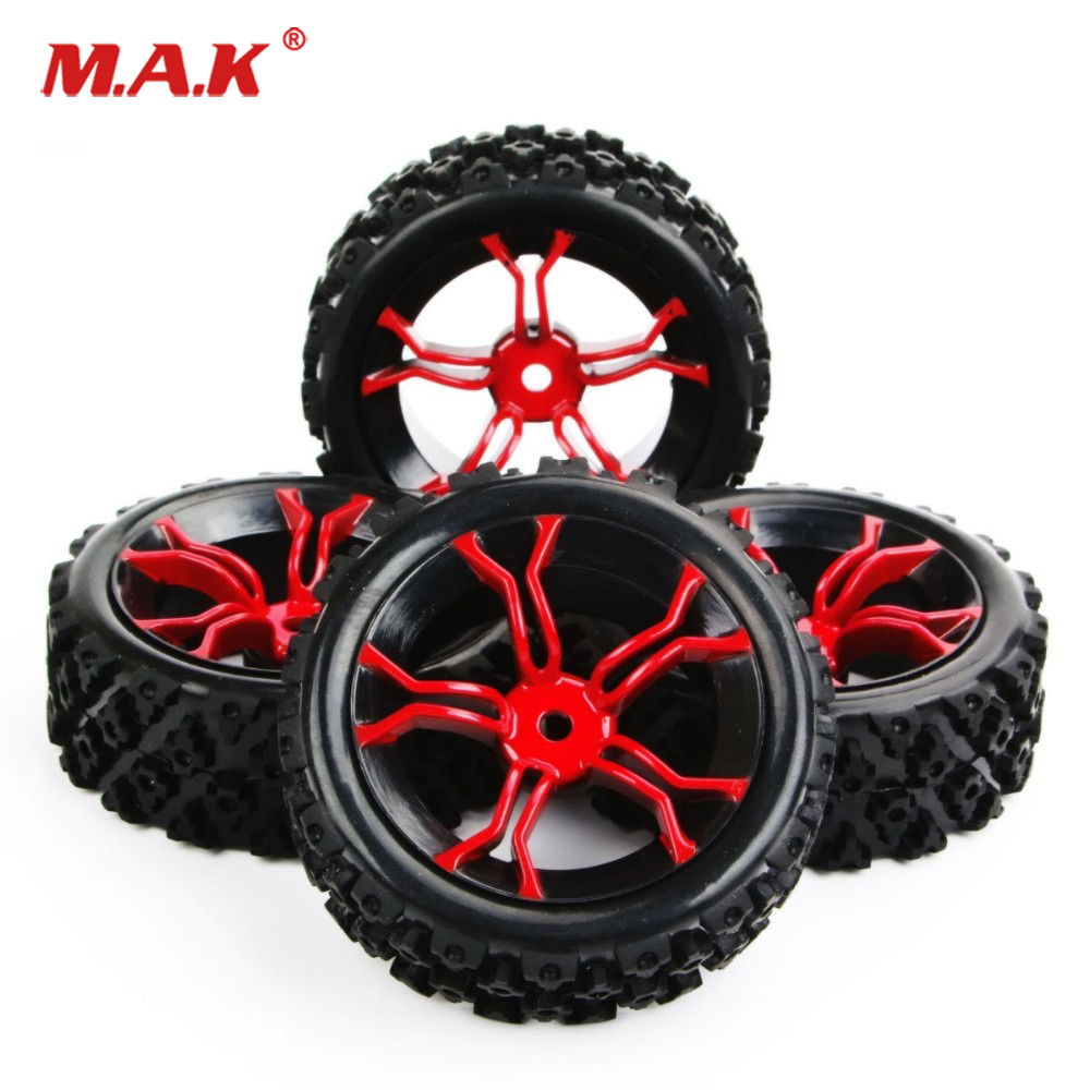 1/10 Scale 4Pcs/Set 6mm Offset 12mm Hex Rubber <font><b>Rally</b></font> Tires&<font><b>Wheel</b></font> Suit HSP HPI <font><b>RC</b></font> on Road Car Model Parts Accessories image