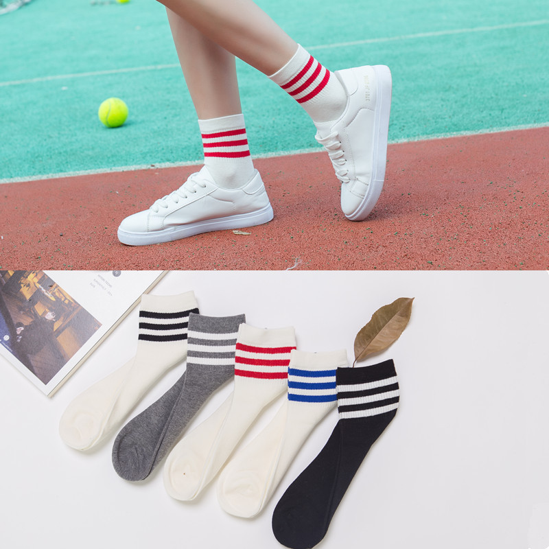 PEONFLY New Woman   Socks   Striped White Cotton   Socks   Art Fashion Funny Short   Socks   Casual Ventilation Low Ankle   Socks   Female