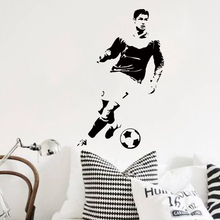 Art design home decoration football player Ronaldo wall sticker removable vinyl house decor soccer cristiano decals in bedroom