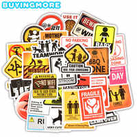 30 PCS Warning Stickers Classic Toys Reminder Danger Banning Signs Collection Gift Decal Sticker to DIY Laptop Luggage Motor Car