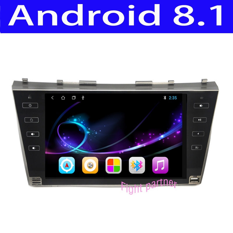 Factory price latest Android 8.1 car dvd player gps navigation for Toyota Camry 40 2007-2011