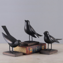 Northern Europe contracted Creative Birds furnishing articles Resin Ornaments TV window Home Decor