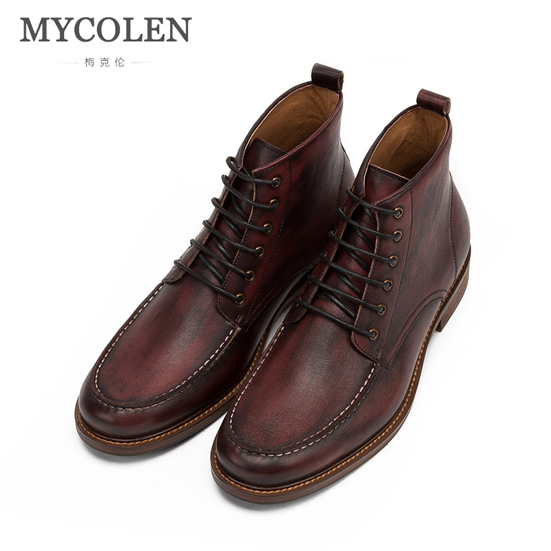 MYCOLEN New Men Boots Fashion Men Ankle Boots Luxury Fashion Winter Men Motorcycle Boots Male Shoes Leather MenS Casual ShoesMYCOLEN New Men Boots Fashion Men Ankle Boots Luxury Fashion Winter Men Motorcycle Boots Male Shoes Leather MenS Casual Shoes