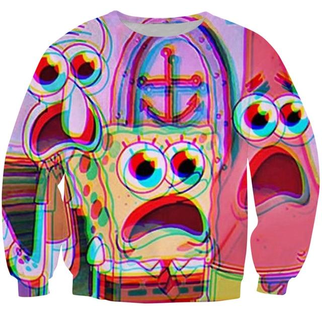 7202caa5769d Fashion Women Men Brand clothing Sweatshirt Cartoon Patrick Star galaxy 3d print  Crewneck sweatshirts Sexy Jumper Tops