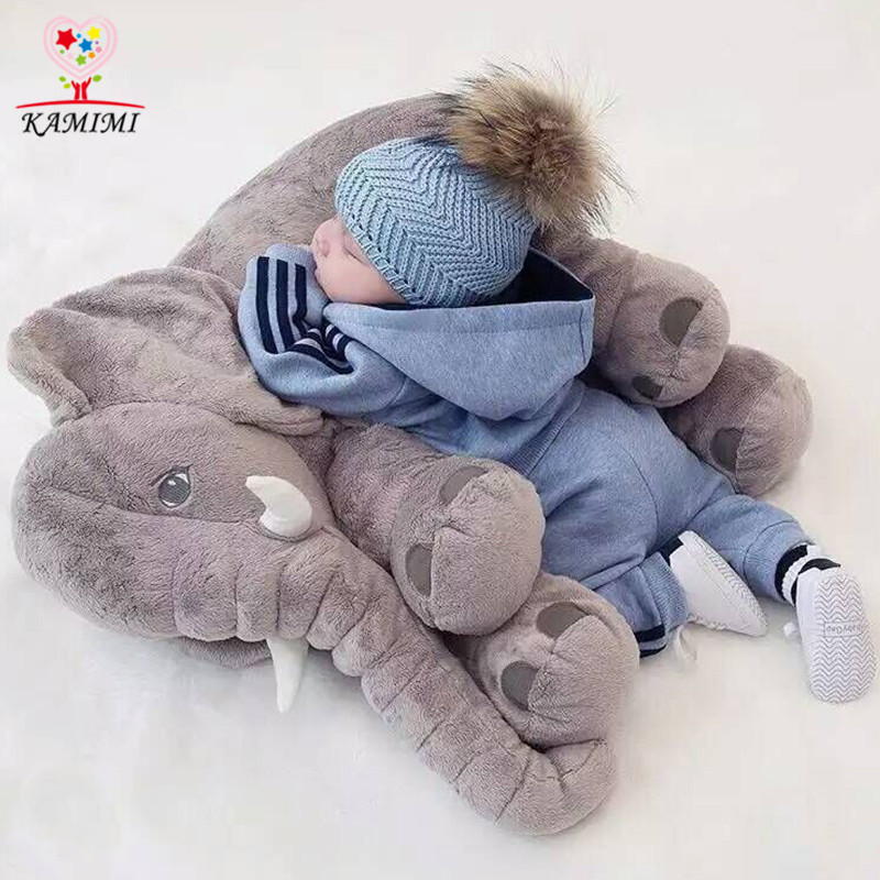 KAMIMI 5 Color Elephant Soft Automotive Baby Sleep Pillow Baby Crib Foldable Baby Bed Car Seat Cushion Kids Bedroom Bedding Set