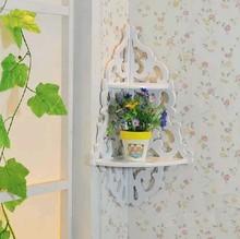 DIY Storage Holders & Racks,Bathroom Shelves Pure white double hollow partition minimalist wood wall shelf racks decorative wall