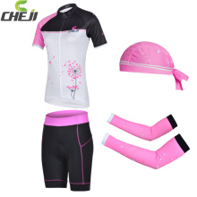 Promotion 2016 CheJi Cycling Jerseys Short Set Women Pink Cycling Kits Pro Bike Clothes Suit Ciclsimo Clothing Group Sets