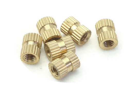 200PCS M3*4*4 MM Copper inserts Injection nut embedded parts copper knurl nut m2 copper flower mother nut double injection through knurled insert m3x8m3x15