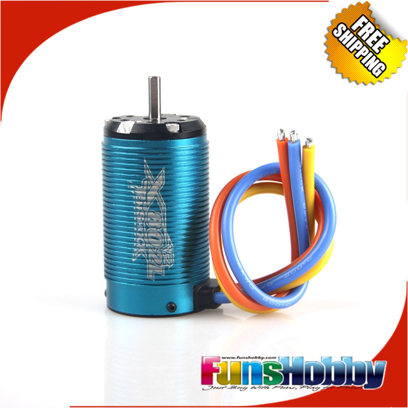 Tenshock X802L V2 1/8 6 Pole Electric Micro Brushless DC Motor For Off Road Truggy Traxxxas RC Cars. Free Shipping 1 8 off road power combo incl tenshock x812 sensor electric brushless motor