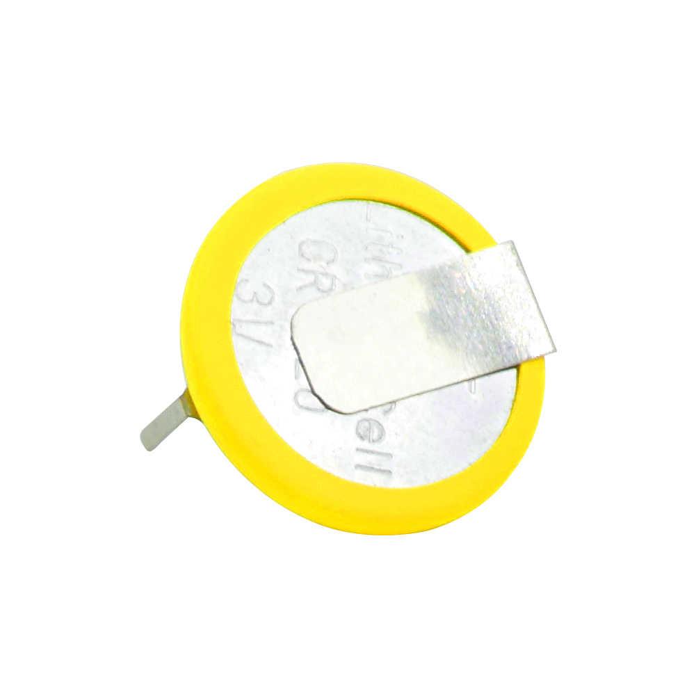 2 قطعة بطارية صفراء + فضية ملحوم CR1220 زر عملة خلية البطارية مع 2 علامات التبويب لحام دبابيس للوحة الرئيسية لعبة التحكم عن بعد