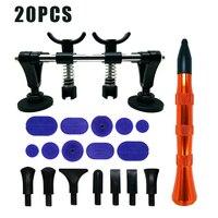 20pcs/set New Dent Repair Pulling Bridge and Alloy Flattening Pen Professional Car Dent Repair Tools