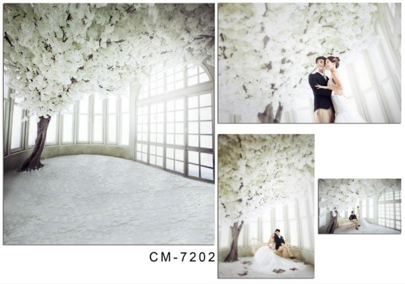 Thin Vinyl Photography Background Computer Printed: Window White Flower Tree Room Backgrounds For Sale Vinyl
