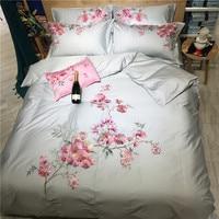 Папа и мима хризантема из египетского хлопка Стёганое одеяло крышка Se king queen размеры вышивка постельное белье