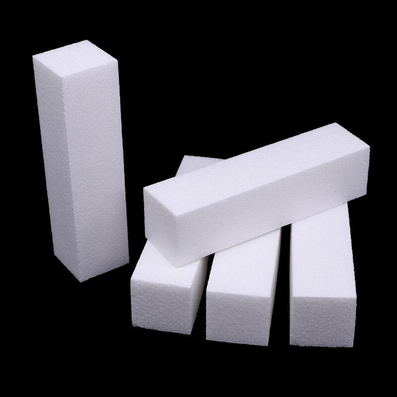 10Pcs/lot Nail File Sponge Nail Art Buffing Block Files Pedicure Manicure White Buffer Block Nail Glitter Tools Women Salon