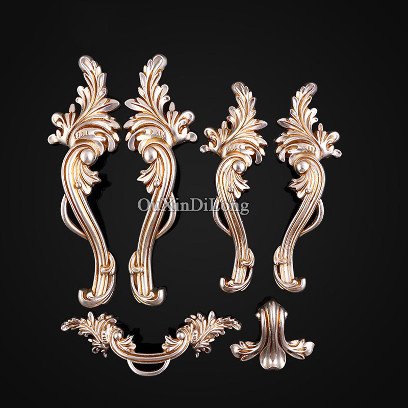 Hot 5Pairs Furniture Handles European Style Zinc Alloy Drawer Cupboard Kitchen Cabinet Door Handles & Knobs Furniture Hardware hot 10pcs furniture handles european antique zinc alloy drawer cupboard kitchen cabinet door handles