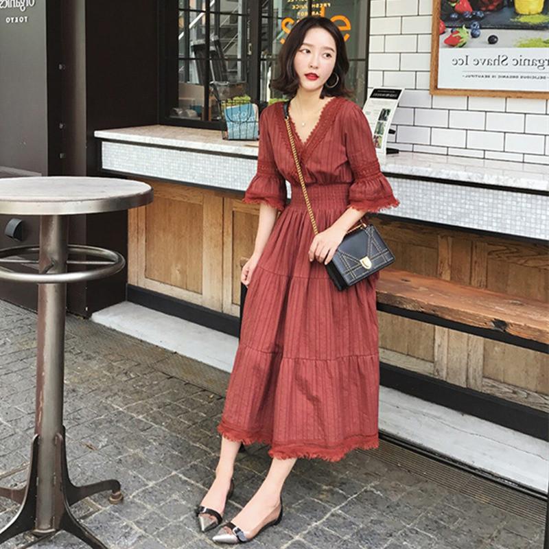 Women Sukol Dress Half Flare Sleeve