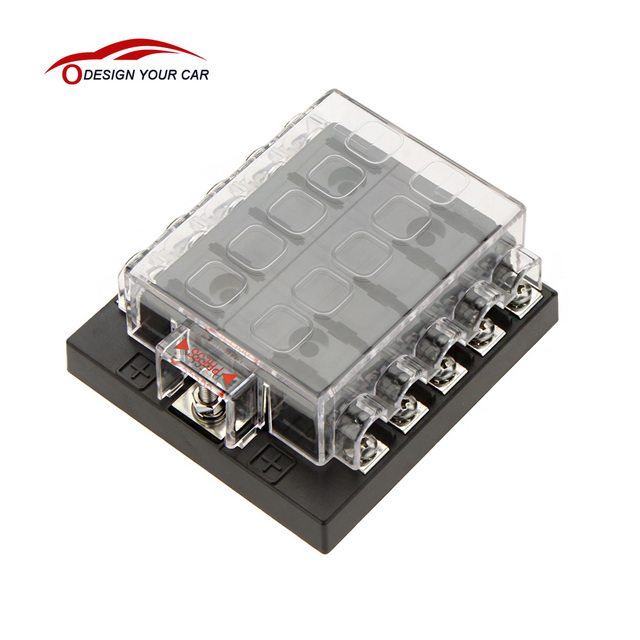 Univesal Car Fuse Box 10 Way Circuit 32V DC Waterproof Blade Car Fuse Holder Box Block_640x640 online shop univesal car fuse box 10 way circuit 32v dc waterproof dc fuse box at honlapkeszites.co