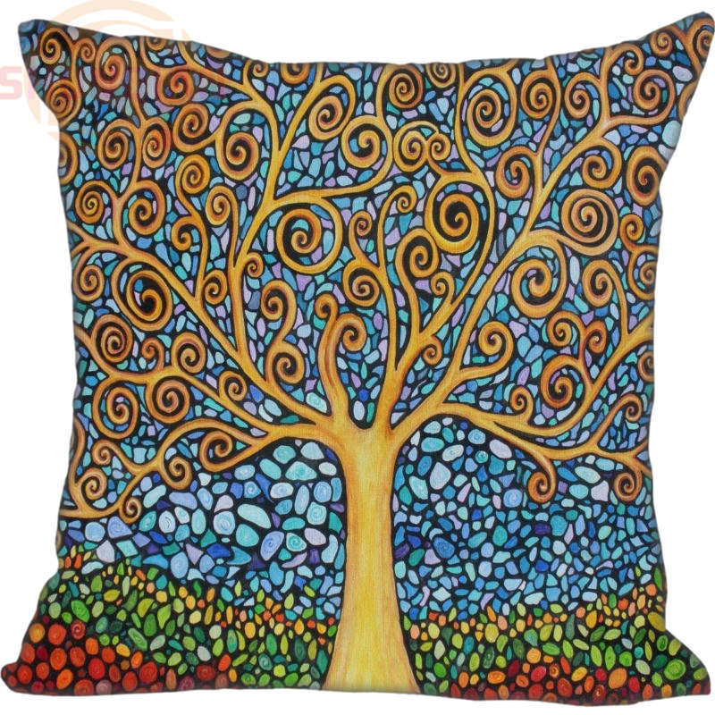 New Custom Gustav Klimt Square Pillowcase Custom Zippered Bedroom Home Pillow Cover Case 35*35cm,40*40cm image