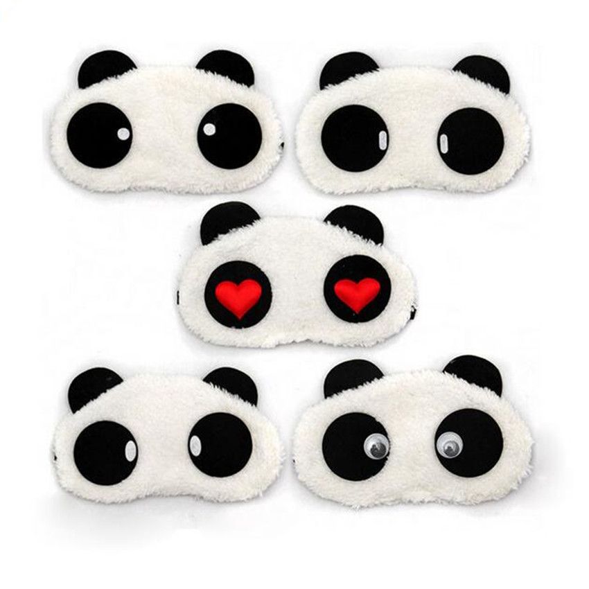 Wholesale Cute Panda Sleeping Face Eye Mask Blindfold Eyeshade Traveling Sleep Eye Aid