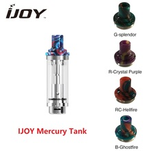 NEW IJOY Mercury Tank 2ml Capacity E-cigarette Atomizer with 1.0ohm Mesh Coil Top Refill Vaping Tank for Mercury Kit Vs Zeus X