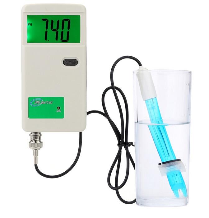 ФОТО Professional pH Meter with LCD Backlit Display Acidimeter Measure Household Drinking Water Quality Analysis Device medidor de ph