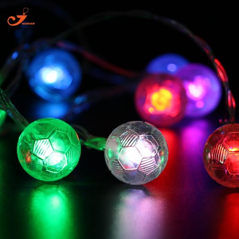 Kleur voetbal Verlichting LED String lights kerstboom decoratie ...