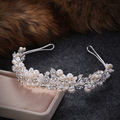 Factory direct bridal headdress hair accessories wedding jewelry fashion Korean dress pearl hair hoop alloy