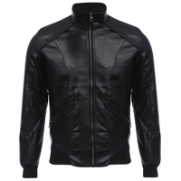 Fashionable Motorcycle Jackets Men PU Leather Jacket Collar Zipper Design Warm Slim Fit Leather Coat for Men Windproof