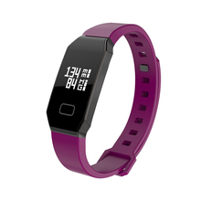 NBS01 Purple Waterproof Smart Bracelet Smart Watch with Fitness Tracker Blood Pressure and Heart Rate and Sleep monitor