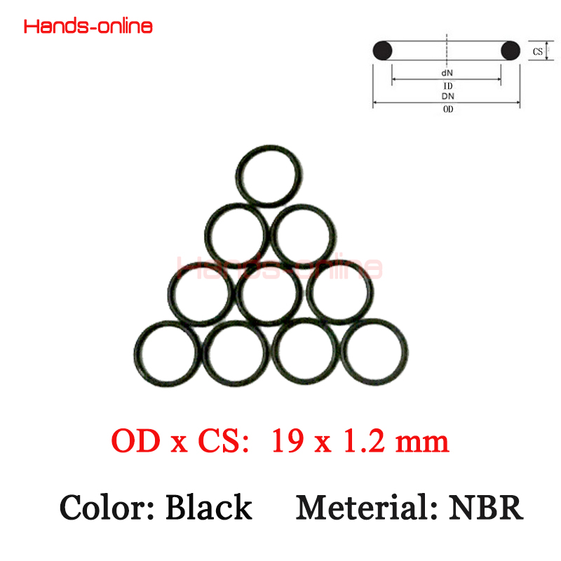 10pcs/lot 19 x 16.6 x1.2 mm O-rings High Quality Rubber NBR O Ring oil seal resistant o-ring 19mm OD x  1.2mm WD/CS Customize комплектующие к инструментам 225pcs nbr o