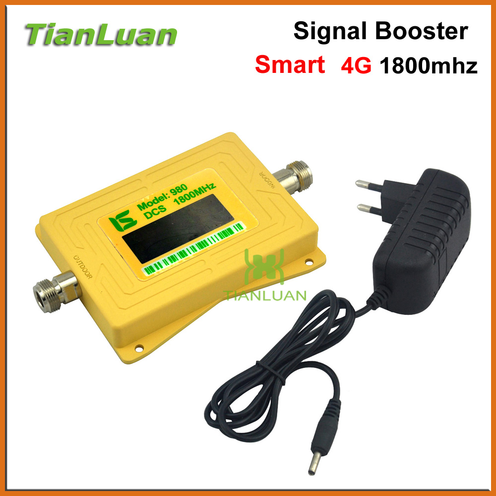 Intelligent mini DCS 1800MHz Mobile Phone Signal Booster 2G 4G 1800 MHz Signal Repeater Cell Phone Amplifier with Power AdapterIntelligent mini DCS 1800MHz Mobile Phone Signal Booster 2G 4G 1800 MHz Signal Repeater Cell Phone Amplifier with Power Adapter