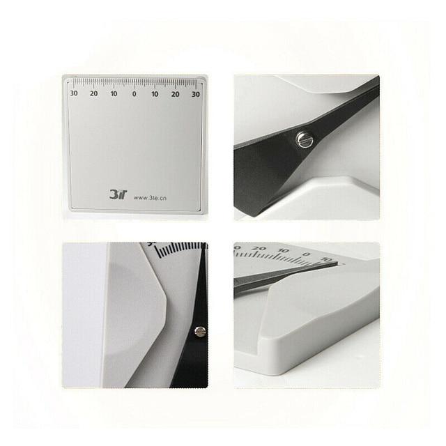 2 stücke Brillen Winkel Lineal Gläser Messung Werkzeug Winkelmesser Für Mess Pantoscopic Winkel Edelstahl Weiß Farbe