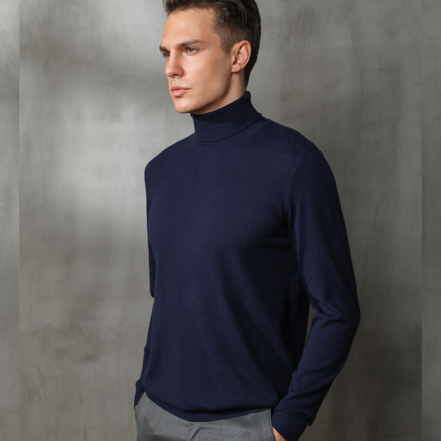 Autumn and winter new high-neck cashmere sweater men's sweater large size sweater loose solid color sweater