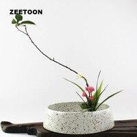 Бутик столе цветочный горшок плантаторов бассейна икебана композиция контейнер ваза грубая керамика чаша Fish Tank Винтаж Декор