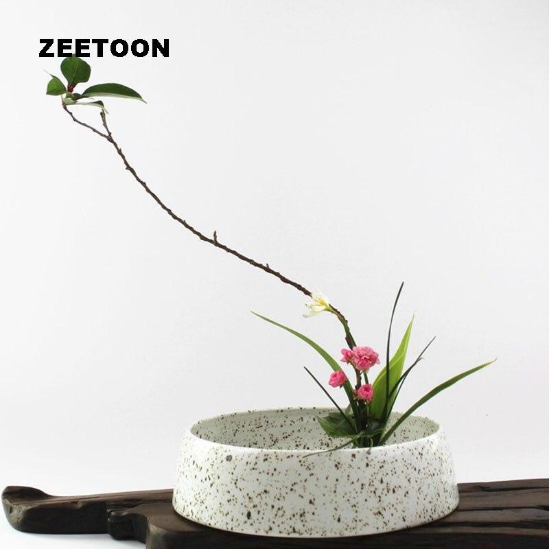 Boutique Desktop Flower Pot Planters Basin Ikebana Flower