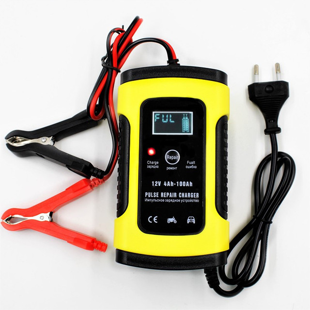Đầy đủ Tự Động Xe Máy Xe Pin Sạc 12 V 6A Thông Minh Nhanh Sạc Điện Chì Axit Pin Kỹ Thuật Số LCD Hiển Thị